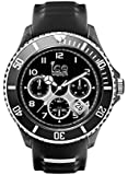 ICE-Watch - SR.CH.BKW.BB.S.15 - Ice Sporty - Chrono Black & White - Montre Homme - Quartz Analogique - Cadran Noir - Bracelet Silicone Noir