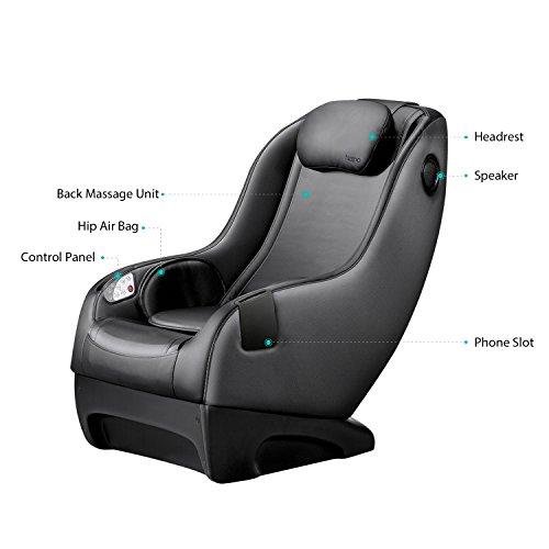 Naipo Shiatsu Massage Stuhl Massagesessel Ganzkörpermassagegerät mit SL Track, 3D Surround Sound Musik - 5