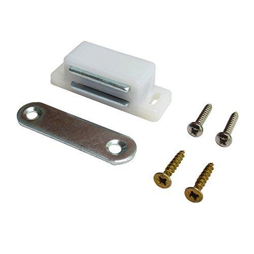 Weiß Magnetverschluss Best für Jalousien, Plantation Fensterläden und Schrank Türen, einfache Installation–inklusive Schrauben–Set von 10