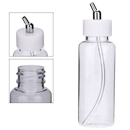 100cc Airbrush Plastikflaschen Topfdeckel Adapter Dual-Action Siphon Feed Airbrush Gläser Airbrush Zubehör Farbflasche 10 STÜCKE