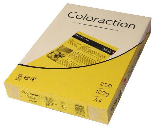 Coloraction 838A 120S 7 - Antalis Kopierpapier, DIN A4, 120 g/qm, Farbe: sevilla - sonnengelb - Farbe Büro Kopierer