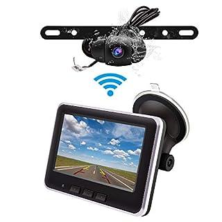 Accfly Wireless Backup Camera Monitor KitIP68 Waterproof License Plate Reverse Rear View Back Up Car Camera4.3' TFT LCD Rear View Monitor for Cars SUV Pickup