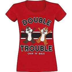 Chip & Chap Tic & Tac - Double Trouble T-Shirt Manches Courtes Rouge M