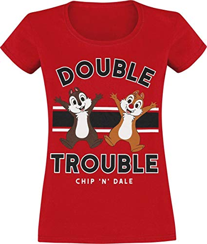 Chip & Chap Double Trouble T-Shirt rot XXL