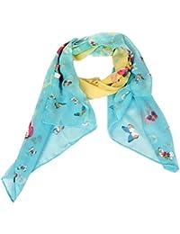 Calonice Amorino Frauen Accessoire Schal Schal Gelb Blau Schmetterling Schal im Himmelblau und rosa Polyester Vielfarbig Eine Größe 53x156x0.1 cm (BxHxT) 22800