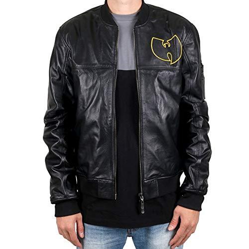Wu Wear - Wu Tang Clan- WU Leather Jacket- Wu-Tang Clan Größe XXL, Farbe Black (Wear Wu Jacke)