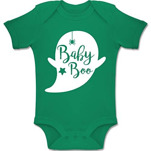 Shirtracer Anlässe Baby - Baby Boo Halloween Gespenst - 12-18 Monate - Grün - BZ10 - Baby Body Kurzarm Jungen Mädchen