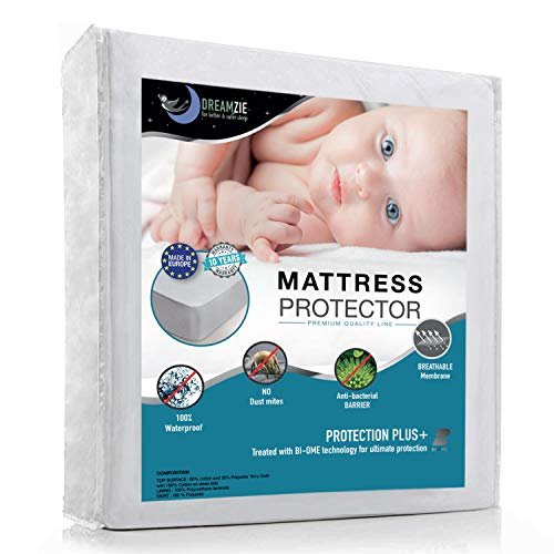Protège Matelas Bébé Imperméable 60x120cm - Alèse Respirante, Hypoallergenique, Anti-Acarien,...