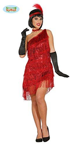 KOSTÜM - CHARLESTON - rot, Größe 42-44 (L), 20er 30er Jahre USA Amerika Gangster Flapper Gesellschaftstanz Broadway Musical (Broadway Kostüm Party)