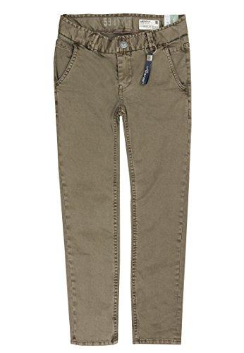 Lemmi Jungen Jeanshose Hose Boys Regular Fit Slim Braun (Morel|Brown 6075), 176 (Herstellergröße: 176) (Slim Gabardine)