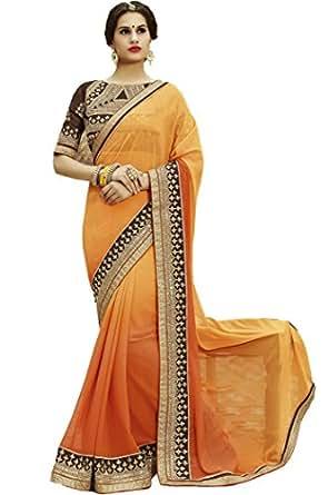 Sareeshop Georgette Saree With Blouse Piece (S1104_Multi_Free Size)