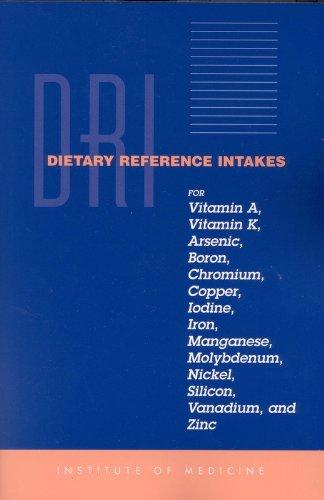 Dietary Reference Intakes for Vitamin A, Vitamin K, Arsenic, Boron, Chromium, Copper, Iodine, Iron, Manganese, Molybdenum, Nickel, Silicon, Vanadium and Zinc
