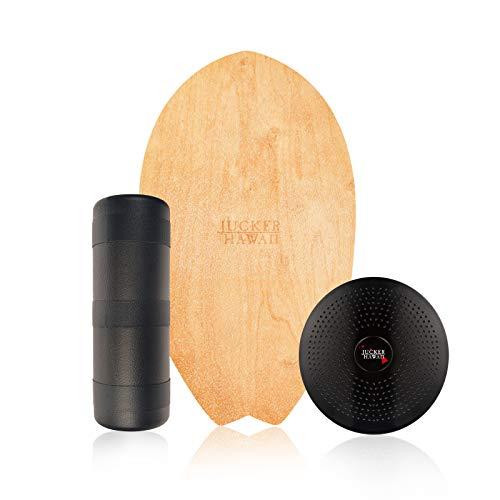 JUCKER HAWAII Balance Board Homerider Surf Pure - Balanceboard Set inkl. Rolle & Balance Kissen