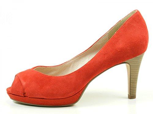 Tamaris Black 1-1-29302-26, Escarpins femme Rouge