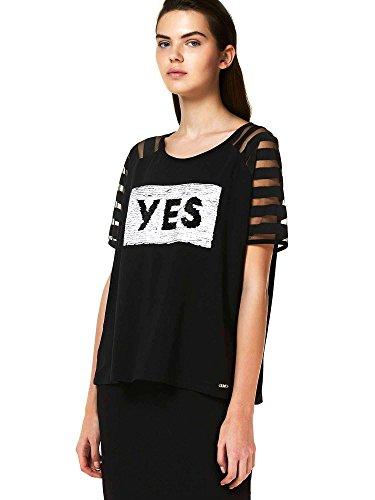 Liu-jo T18166J5406 T-shirt Donna Nero