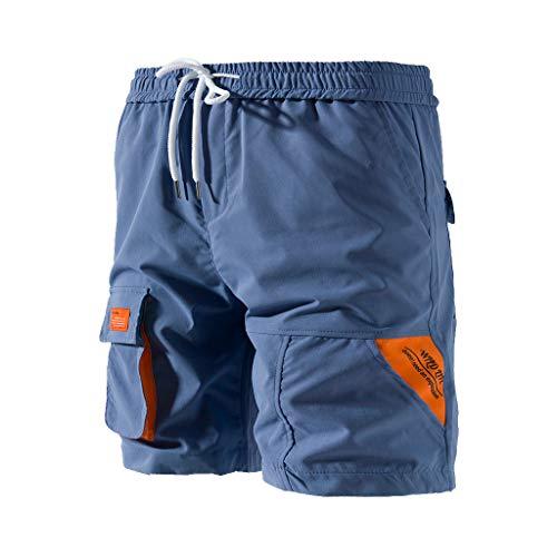 shorts herren compression tights kurze hose mit taschen trainingshose joggingshirtsmänner gym fitness quick-dry yoga sweatpants sweatshorts stoffhose casual sporthose activewear hosen s-xxl (Drawstring-tasche Trainingshose)