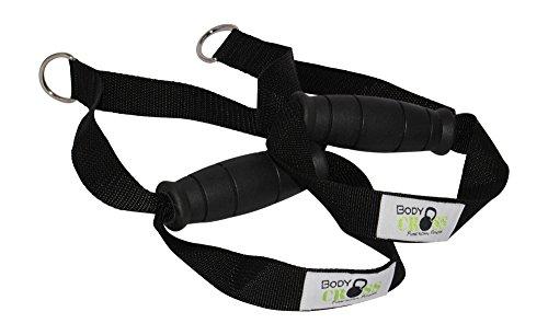 BodyCROSS Premium Griffe mit Fußschlaufe   hochwertige Studioqualität   Schadstoffgeprüft für alle Sling-Trainer und Fitnessbänder geeignet   Made in Germany (1 Paar)