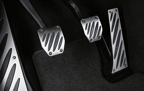M Performance Pedalauflagen Edelstahl m. Schaltgetriebe Passend für 1er F20, F21 und 3er F30, F31 und 5er F10, F11 und 6er F12, F13