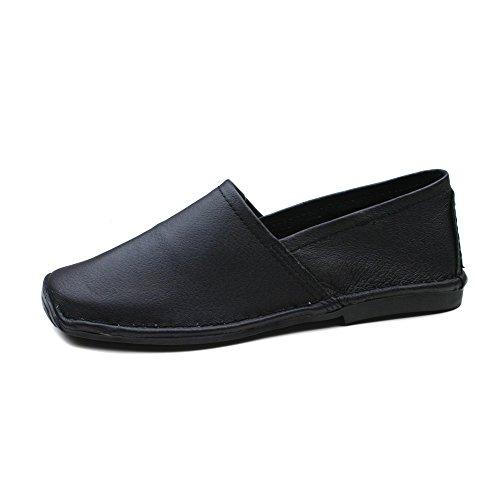 hush-puppies-damen-leder-schwarz-schlupfen-komfortabel-schuhe-black-40