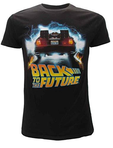 BTTF ZURÜCK IN DIE Zukunft T-Shirt Schwarz Delorean Outatime Offizielles Original Back to The Future (XL Extra Large) -