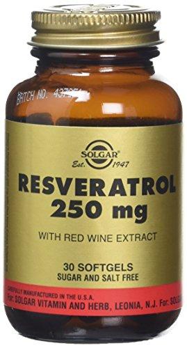 Solgar 250 mg Resveratrol Softgels - 30 Softgels Test