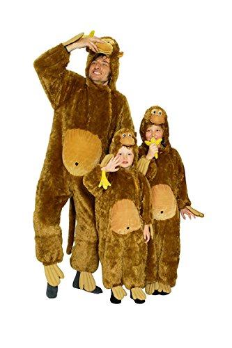 Kinder Kostüm Plüsch Affe Affenkostüm zu Karneval Fasching Gr.140/152 (Plüsch Affe Kostüme)
