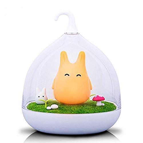LATH.PIN Lampe de nuit Rechargeable Veilleuse LED Touch Détection Micro USB charge de Fantasy Elfes Lampes forme Cage d'Oiseaux (Orange)