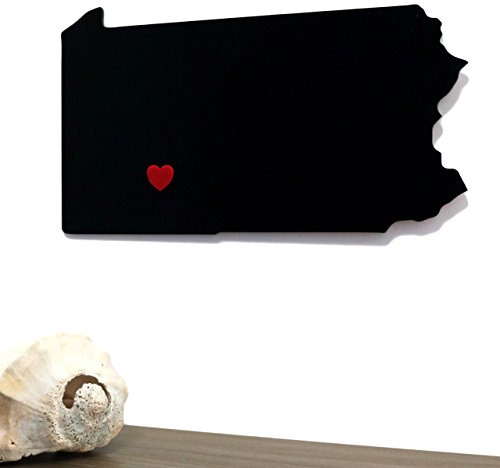 Mission Glas Funktioniert Pennsylvania State Outline Wand Silhouette Home PA Art Wand Form Modern Décor