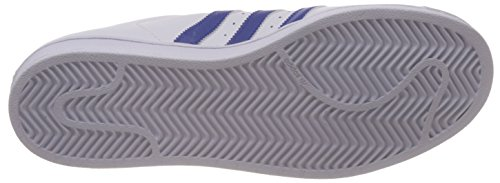 Adidas B27141, Chaussures de basketball Homme Blanc (White/Collegiate Royal/White)