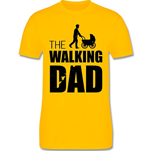Shirtracer Vatertag - The Walking Dad - Herren T-Shirt Rundhals Gelb