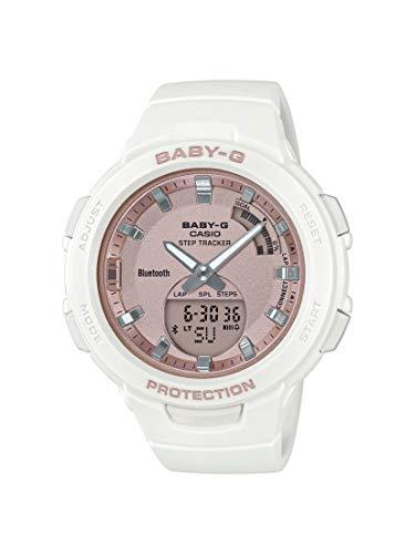 CASIO Damen Analog-Digital Quarz Uhr mit Harz Armband BSA-B100MF-7AER