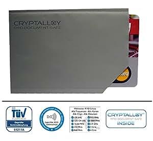 RFID-Blocker für neuen Personalausweis # aus dem Hause Kryptronic # Schutzhülle für Perso ISO-Karten Kundenkarten Kreditkarten # RFID-Chip kann nicht unerwünscht ausgelesen werden