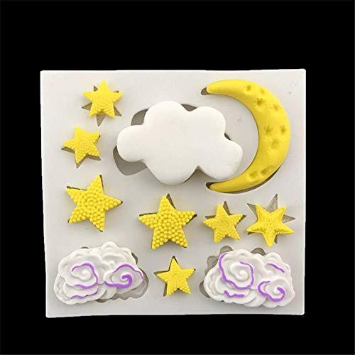 Lanbowo Wolke Stern Mond Silikonform Fondant Kekse Schokoladenform Sugarcraft Gebäck Kuchen Dekoration Werkzeug