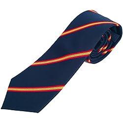 Corbata azul con bandera españa,corbata azul con bandera española,Corbatas de hombre calidad alta