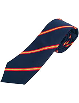 Corbata de hombre con bandera española,corbata azul,corbata estrecha,elegante,