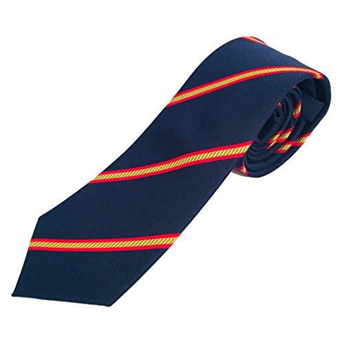 Corbata azul con bandera españa, Corbata azul con bandera española, Corbatas de hombre calidad alta, Corbata estrecha, Corbatas de hombre finas