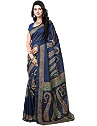 Samskruti Sarees Art Silk Saree (Syuv-3944_Navy Blue)