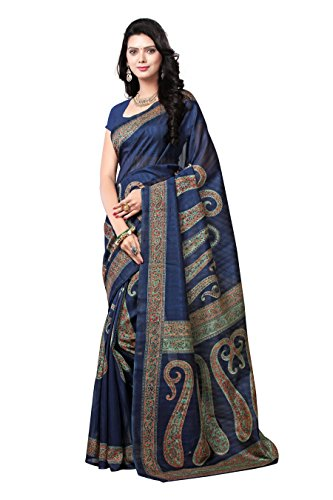 Samskruti Sarees Art Silk Saree (Syuv-3944_Navy Blue)
