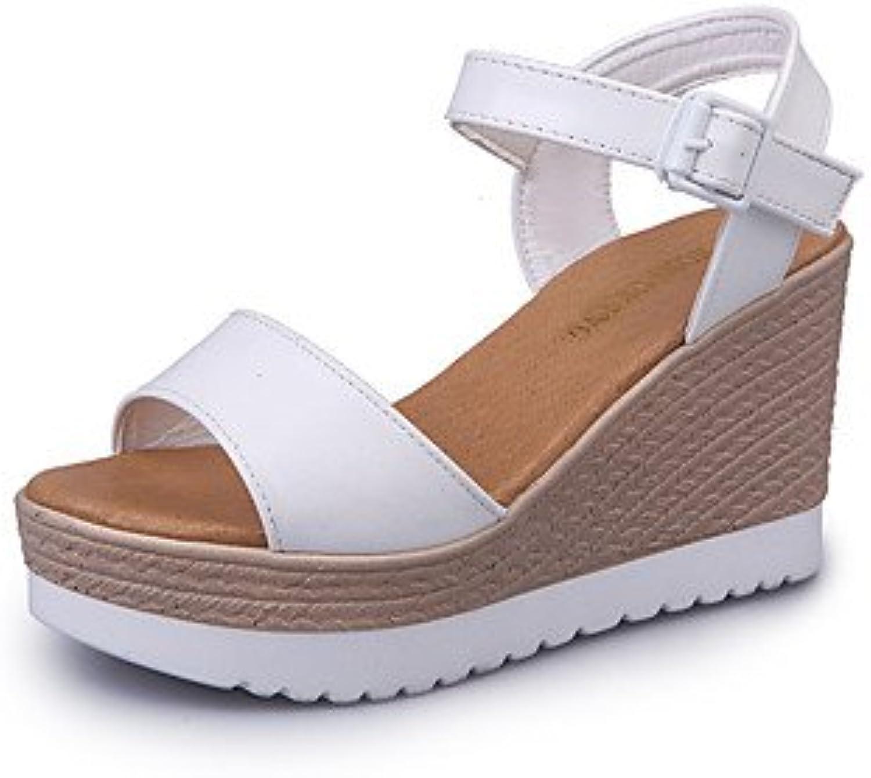 l'été rugai-ue mode confort des talons les chaussures pu sandales décontracté pu chaussures marcher, rougis rose, us10.5 / eu42...b072n8h9fc parent 7107a9