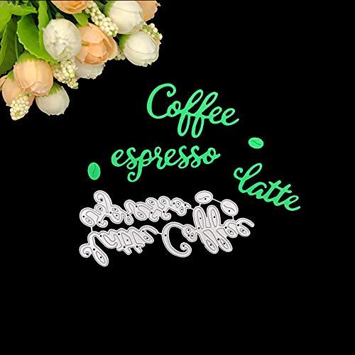 Stanzformen, Buchstabe Kaffee, Kohlenstoffstahl, DIY Scrapbook Papier Karten Prägung Craft Decor Geschenk multi - Metall Schneiden Buchstaben