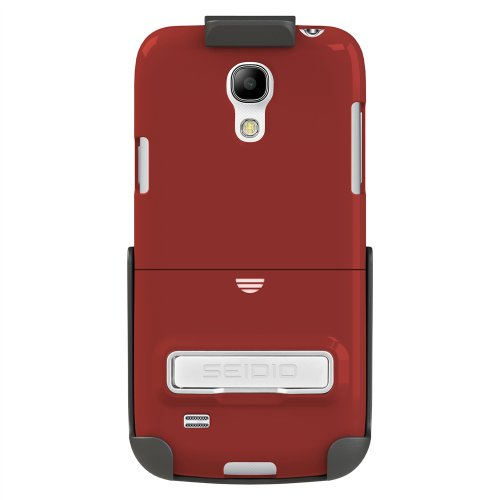 Seidio BD2-HR3SSG4MK-GR Surface Hülle mit metallischen Kickstand und Holster Combo für Samsung Galaxy S4 Mini rot - Seidio Holster-design