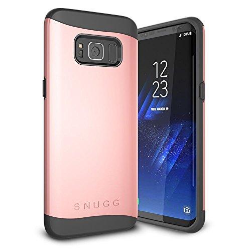Funda Galaxy S8 Plus, Snugg Samsung Galaxy S8 Plus Case Slim Carcasa de Doble Capa [Infinity Series] Revestimiento con Protección Anti-Golpes - Rosa - Oro