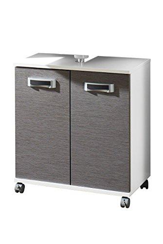 Schildmeyer 119735 Waschbeckenunterschrank, 60 x 63,5 x 32,5 cm, esche grau
