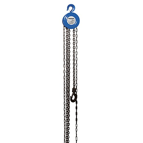 Silverline 633705 Chain Block Hoist, 1 Tonne (1000kg) Capacity, 2.5m Lifting Height