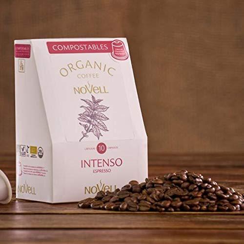 Novell Intenso Espresso - 100 aluminiumfreie & kompostierbare Bio-Kaffeekapseln, Nespresso® kompatibel