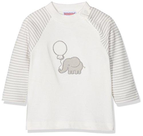 Schnizler Unisex Baby Langarmshirt Elefant Geringelt, Oeko-Tex Standard 100 Sweatshirt, Beige (Natur 2), 62