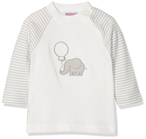 Schnizler Langarmshirt Elefant geringelt, Oeko-Tex Standard 100, sudadera Bebé niños, Beige (Natur),...