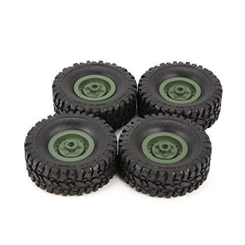 4pcs Gummi Felge Reifen Reifen für RC 1/16 Klettern Crawler Auto WPL B-1 / B-24 / C-14 / C-24 / B-16 LKW-Teil Ersatzteil Zubehör - Grün