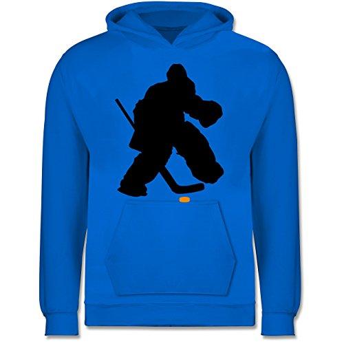 Sport Kind - Eishockeytorwart Towart Eishockey - 7-8 Jahre (128) - Himmelblau - JH001K - Kinder Hoodie