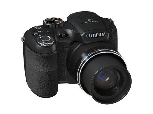 Fujifilm Finepix S1600 Digitalkamera (12 Megapixel, 15-fach opt.Zoom, 7,6 cm Display, Bildstabilisator) schwarz